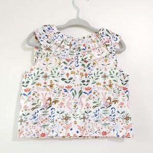 Maison Me by Maisonette Chic Ruffle Floral Shirt